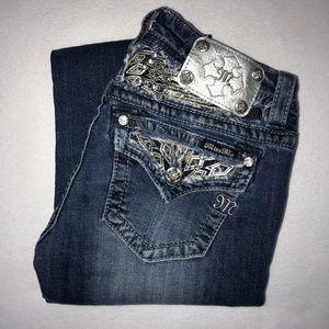 Miss Me Silver Angel Wings Bootcut Jeans 27 33